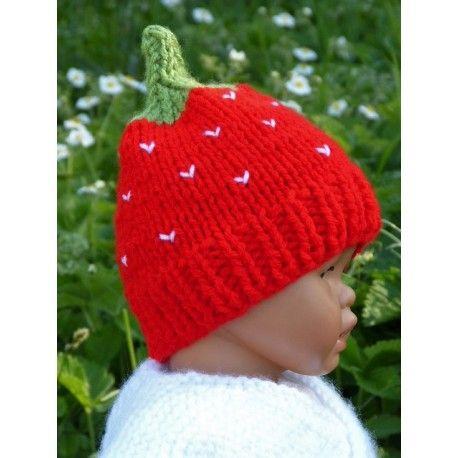 a5cdbf5a199 Adorable bonnet fraise pour bébé Taille naissance  pour un bébé de la  naissance à 3