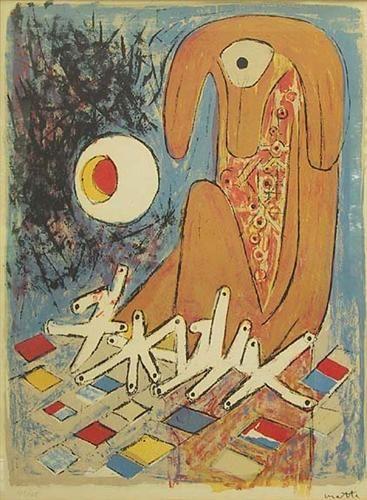 """Roberto Matta, """"El Pianista"""", 1956."""