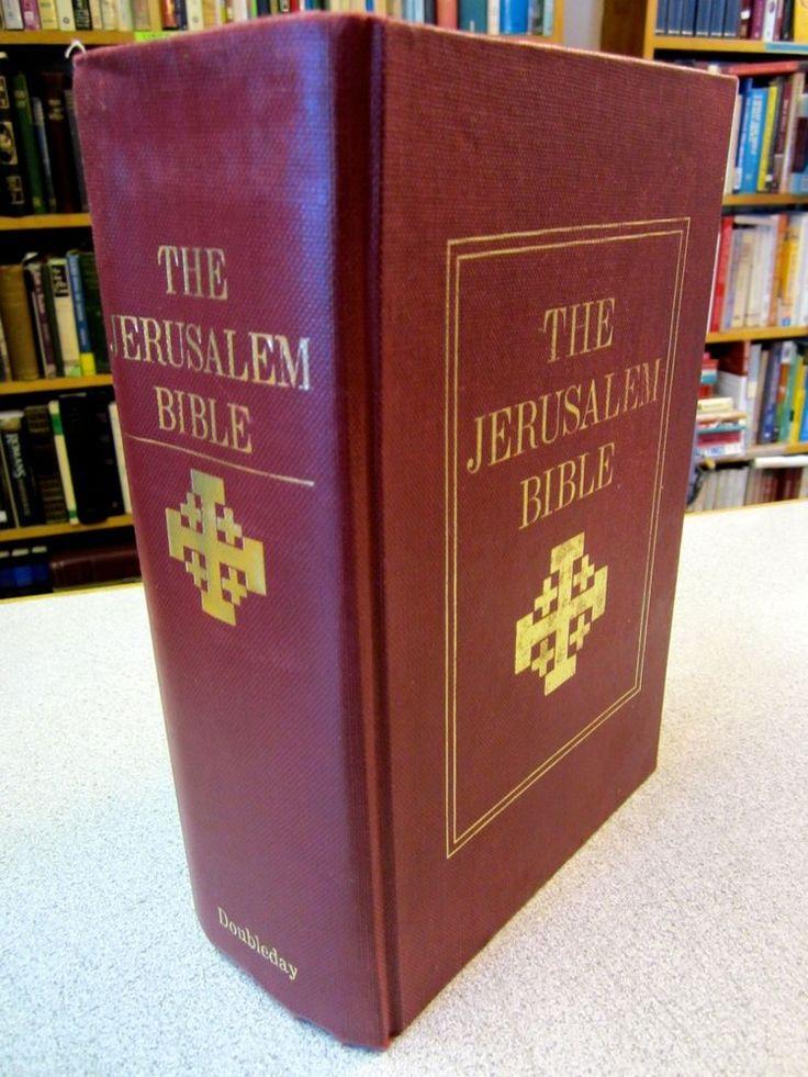 THE JERUSALEM Bible Doubleday 1966 Alexander Jones HC Indexed Tabs