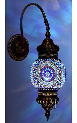 Turkish lamp: Glasses Mosaics Lamps, Wall Lamps, Lamps Lights, Blue Lights, Blue Lamps, Turkish Lights, Mosaics Wall, Bohemian Lamps, Turkish Lamps