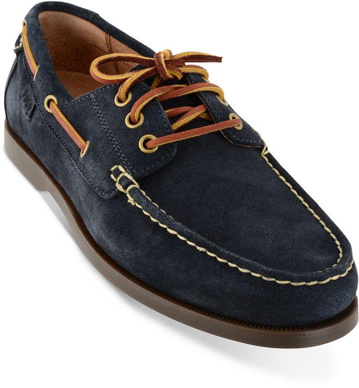 Polo Ralph Lauren Men's Bienne Ii Suede Boat Shoes Men's Shoes