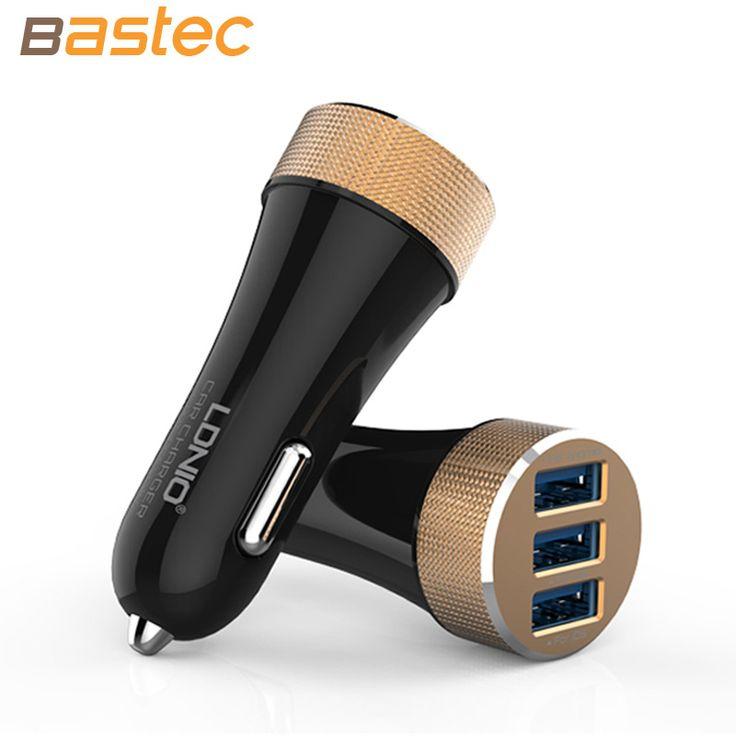 Ldnio 5.1A 3 Ports carga rápida cargador de coche Micro USB con el paquete de regalo para el iPhone 7 6 s 6 ipad mini Samsung Xiaomi HTC
