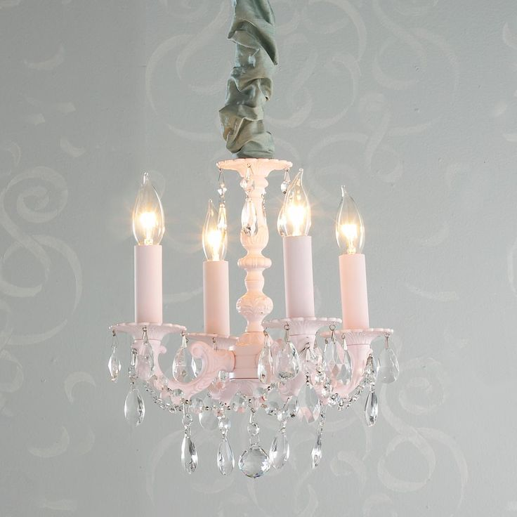 The 105 best chandelier repurposing images on pinterest 5 star opinion for guest room add shades and cord cover for this purchase dainty metal and crystal mini chandelier 4 light aloadofball Choice Image
