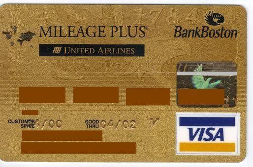 Mileage Plus United Airlines (Bank Boston, Argentina) Col:AR-VI-0041