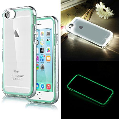 iPhone 6 Case, ULAK [Lumenair Series] LED Case iPhone 6 (4.7) Incoming Call Flash Hybrid Case Cover with (Transparent+Silver) PC Hard Back Case + Luminous Soft Bumper Frame Case For iPhone 6 (4.7 inch) (Green) http://www.amazon.com/dp/B00RG7YXFS