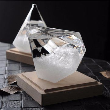 Weather Forecast Storm Glass Crystal Diamond Shape Bottle Home Decor Ornament