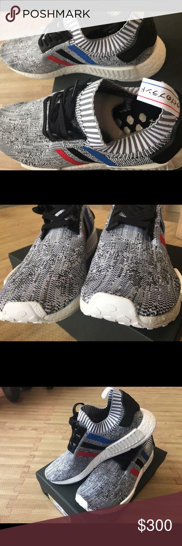 Selling this ADIDAS NMD R1 primeknit tricolor NIB size 12 mens on Poshmark! My username is: whalesand. #shopmycloset #poshmark #fashion #shopping #style #forsale #Adidas #Shoes