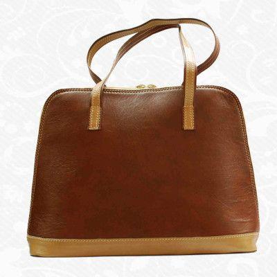 Luxusná kožená kabelka s módnym prešívaním, uzatváraná na zipsLuxusná kožená galantéria – Kožený obchod / www.kozeny.sk