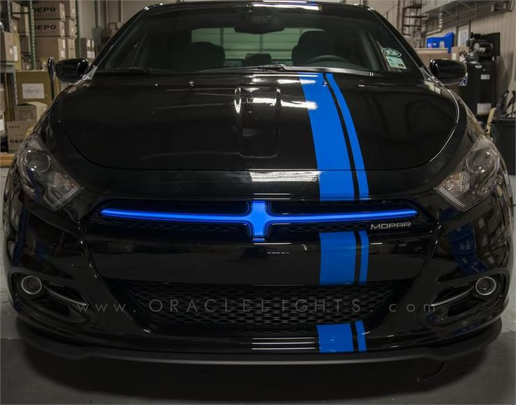 2013-2014 Dodge Dart Illuminated Grill Crosshairs Electroluminescent Grille Insert by Oracle Lighting