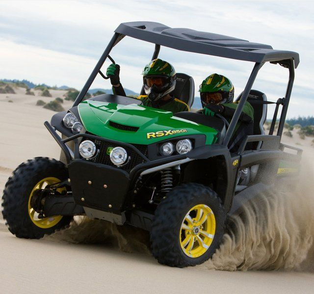 John Deer Gator RSX850i    Ok, now this is one I would love to own. This looks like a blast to take out ripping through the dunes, down a beach, or across a field.