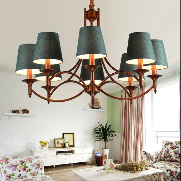 (161.65$)  Watch here - http://aimar.worlditems.win/all/product.php?id=32678589421 - led e14 American Mediterranean Iron Fabric LED Lamp LED Light Pendant Lights Pendant Lamp LED Pendant Light For Foyer Bedroom