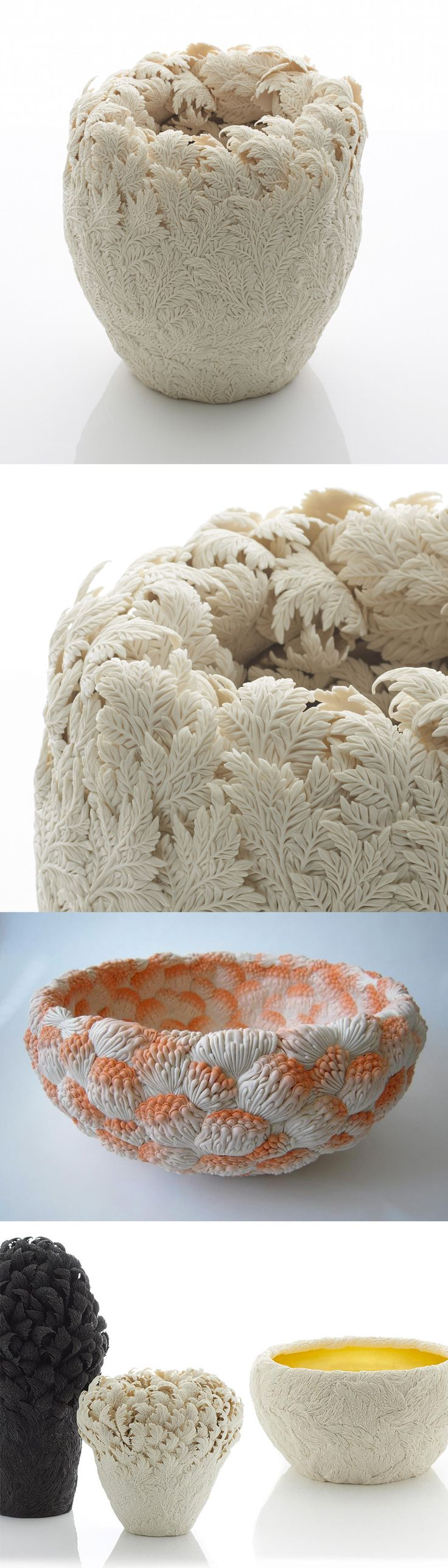 Porcelain Sculptures Inspired by English and Japanese Botanics by Hitomi Hosono