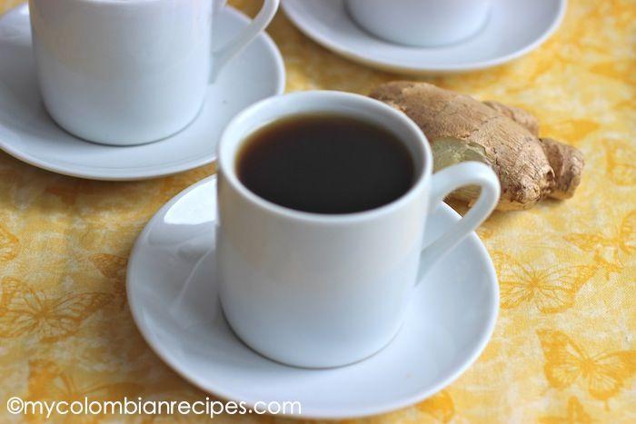 Agua de Panela con Jengibre (Sugar Cane and Ginger Drink)