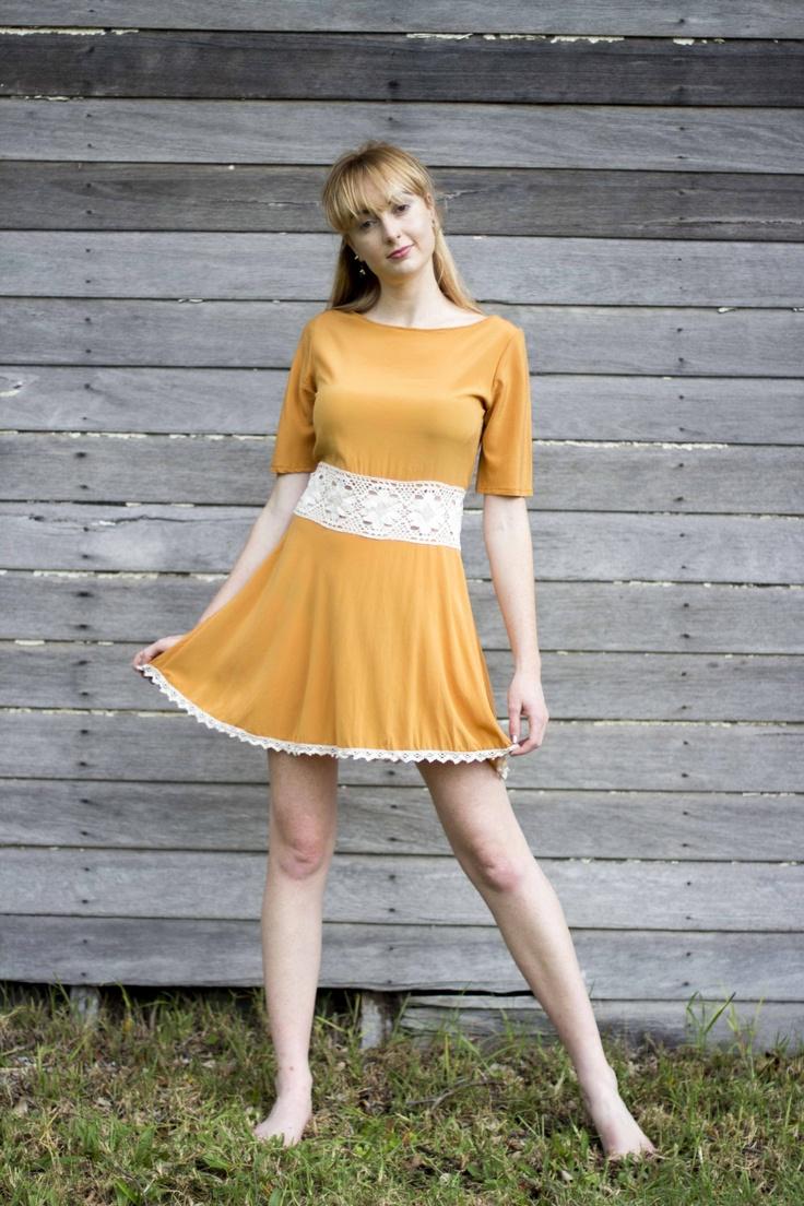 Monique, orange silk dress