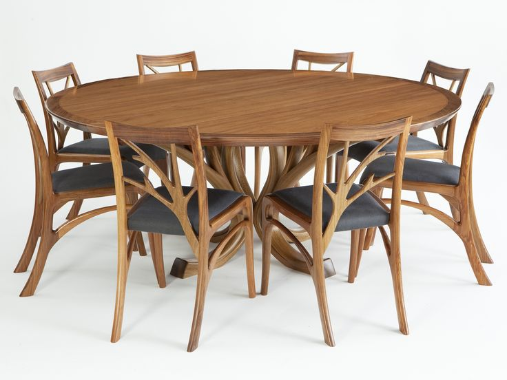 Designed & Handmade by Will Marx. The Blackwood Magnolia dining suite was inspired the delicate beauty and form of the Magnolia trees in New Farm. Made from Tasmanian Blackwood, selected for the beautiful grains and rich warm colour.