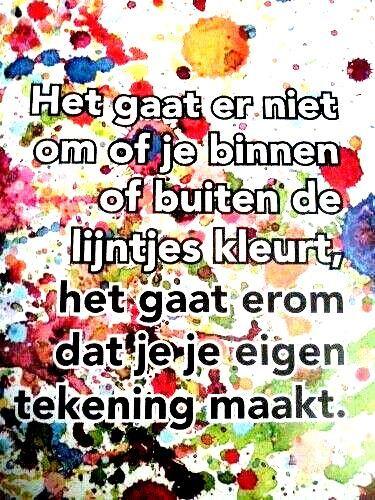 Buiten de lijntjes kleuren, creatieve therapie www.facebook.com/info.zin | www.info-zin.nl
