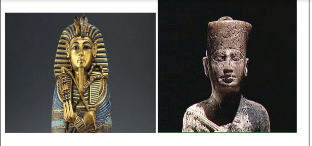 Above is King tut who was a young leader of Egypt he became pharaoh of Egypt when he was 8 years old and he was left with a angry Egypt because of his father's reign. He is best known for reinstating old Egyptian gods . To the right is king Khufu he was responsible for making one of the great pyramids of Giza little is known about Khufu but we know that he was the king of Egypt .