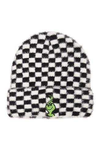 890212a8546cc The Grinch Checkered Print Beanie