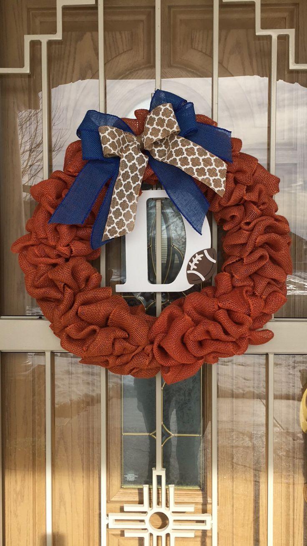 Denver Broncos football Wreath