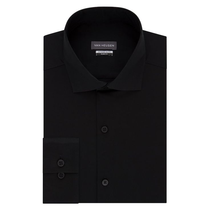 Men's Van Heusen Extreme Fade-Resistant Regular-Fit Dress Shirt, Size: 2X-36/37, Black