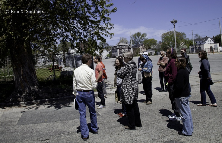 "Jane's Walk 2013: Providence, Rhode Island, USA - ""Understanding a Northern Elmwood Neighborhood"" - Guided by Doug Victor - Photo by Erin X. Smithers - http://www.janeswalk.net/"