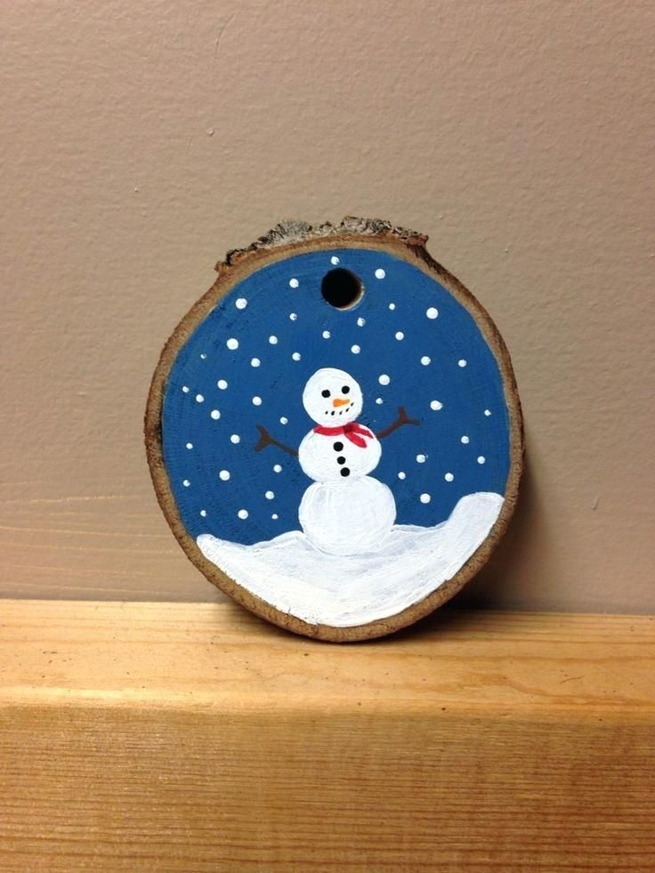 Diy wood slice christmas ornaments easy transfer upcycled