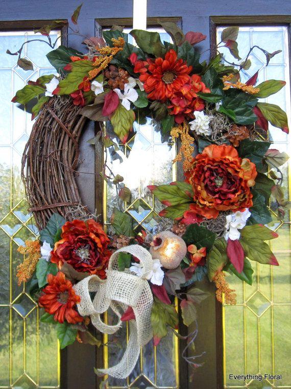 154 best flower arrangements images on pinterest floral for Fall fake flower arrangement ideas
