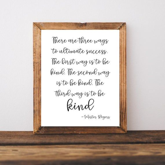 Mister Rogers Sign Mister Rogers Quote Be Kind Sign Classroom Wall Decor Mr Rogers Print Printable Wall Art Mr Rogers Quote Mr Rogers Quote Mr Rogers Classroom Wall Decor