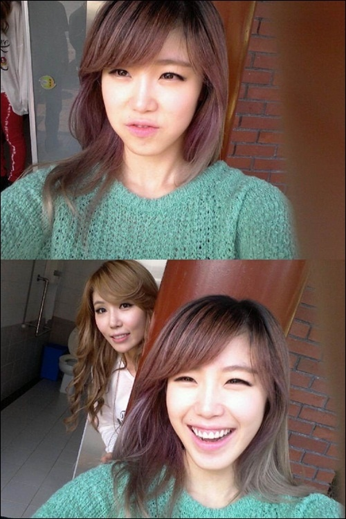 Hyo-sung & Zinger from Secret.    so cute