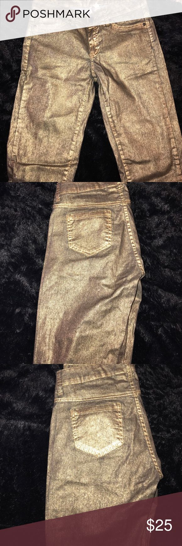 Gold Jeans trendy gold jeans! Jeans Skinny