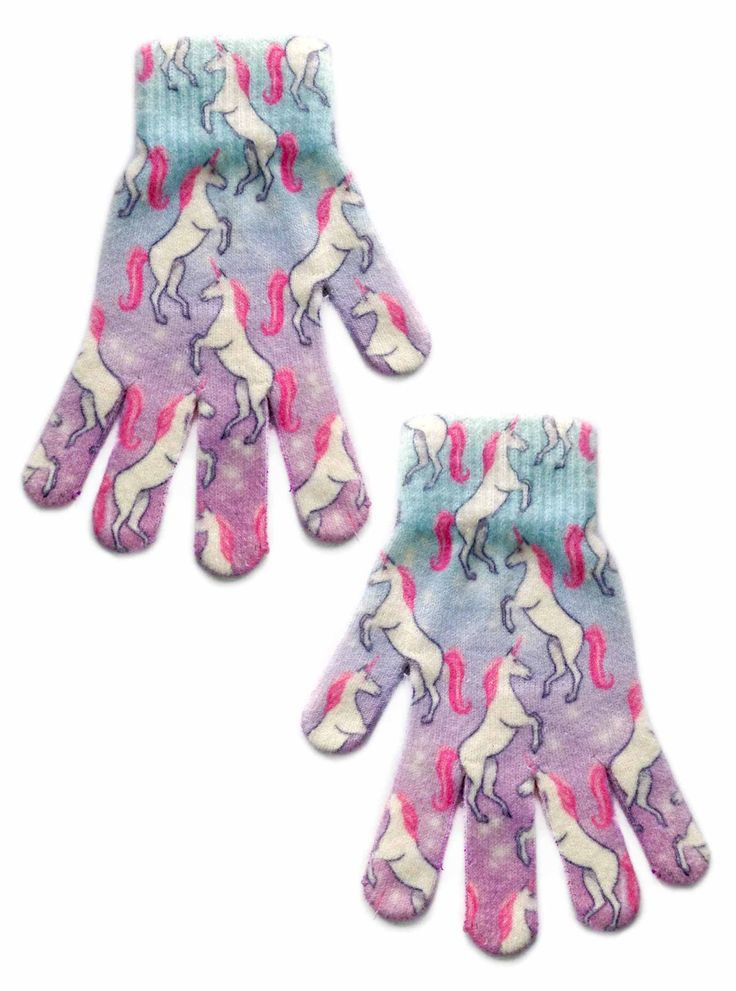 Majestic unicorns! *PRINTED ON BOTH SIDES *ONE SIZE FITS MOST *GENERALLY FITS CHILDREN/WOMEN *100% POLYESTER