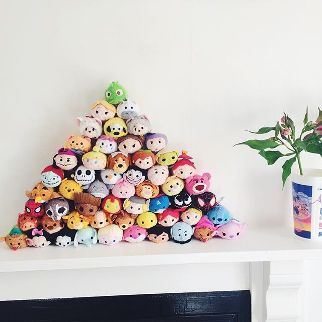 Complete pyramid. Maybe now I should stop  #tsumtsum #lame #disney #disneytsumtsum #fireplace #flowers #aladdin #cat #kawaii #japan #disneyclassic #bedroom #pinterest #tsumtsumdisney #marvel #cute #frozen #princess