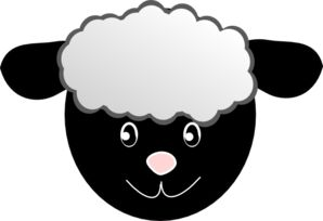 Public domain sheep mask and mask template on pinterest