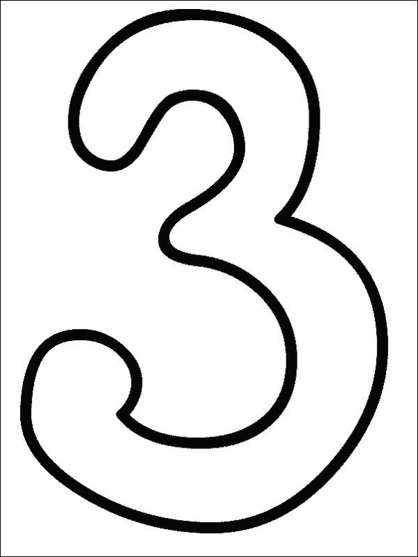 Numbers Coloring Page Print Numbers