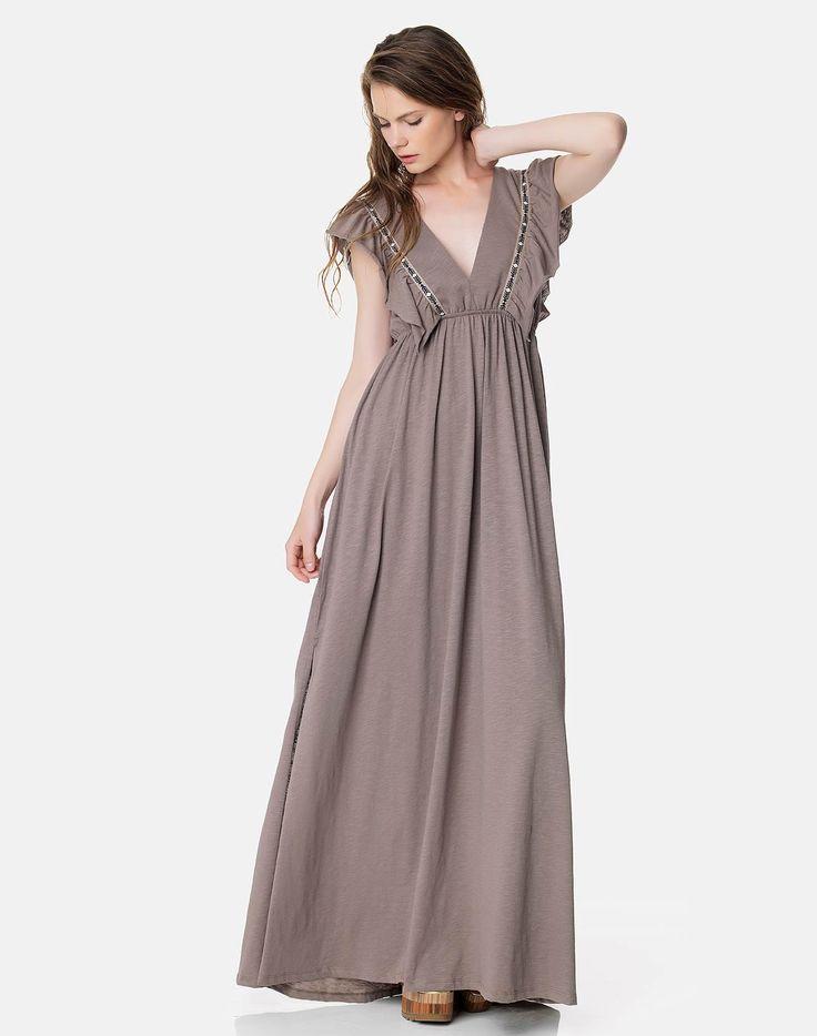 Maxi φόρεμα με βολάν - Regalinas