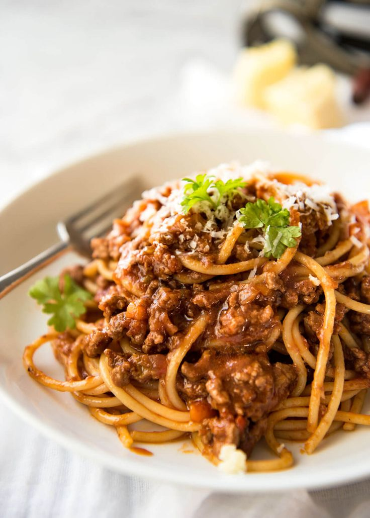 Spaghetti Bolognese - Thick, rich tomato sauce with gorgeous depth of flavour…