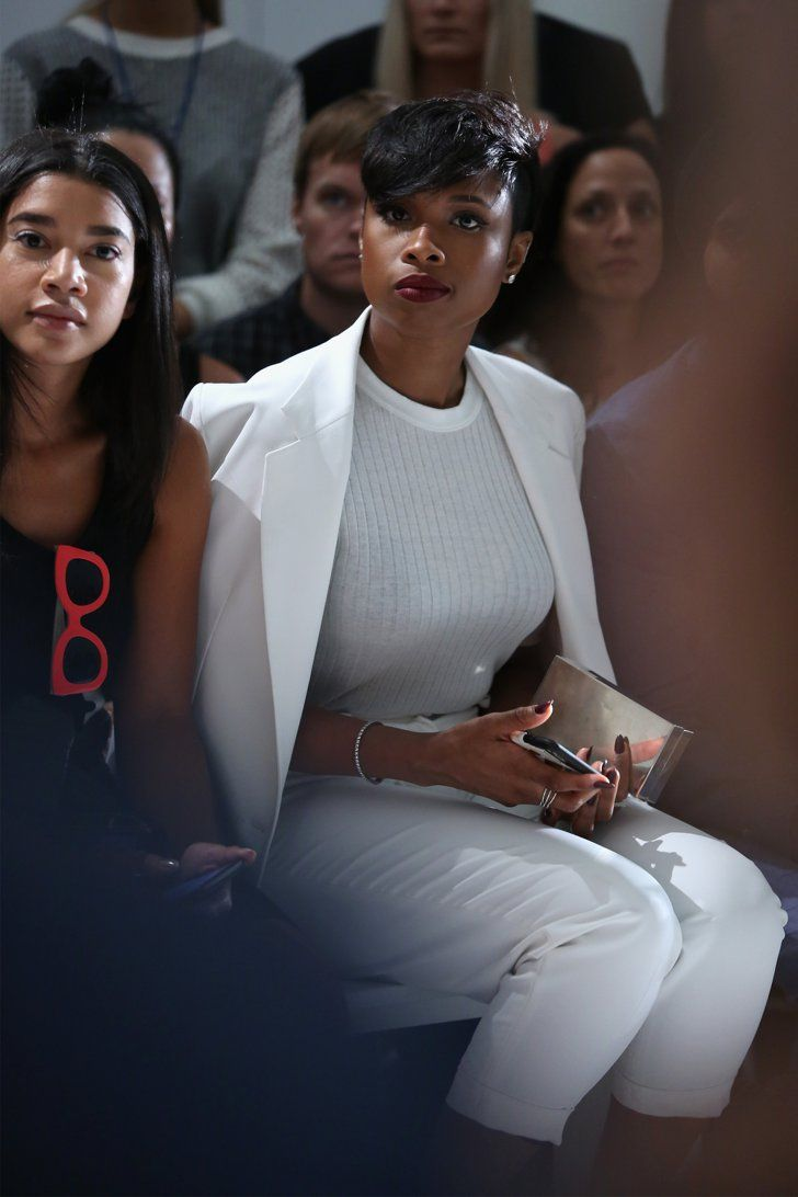 Pin for Later: These Stars Have Been Sitting Pretty in NYFW's Front Row Jennifer Hudson Jennifer Hudson also went with a white set as she took in the DKNY designs on the runway.