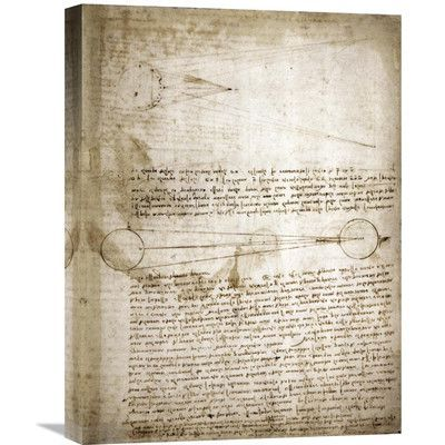 Global Gallery 'Codex Leicester: The Changing Earth' by Leonardo Da Vinci Graphic Art on Wrapped Canvas