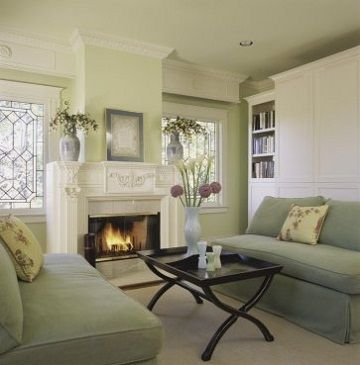 I Loved This Fireplace, And The Color Tones In The Room. Not Necessarily  The Shape And Style Of The Pieces, But I Do Love Anything Sage Green. Part 3
