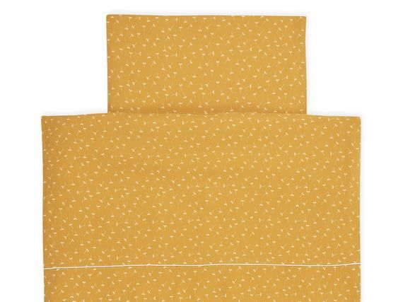 Kraftkids Bettwascheset Musselin Gelb Pusteblumen Decke 135 X 100