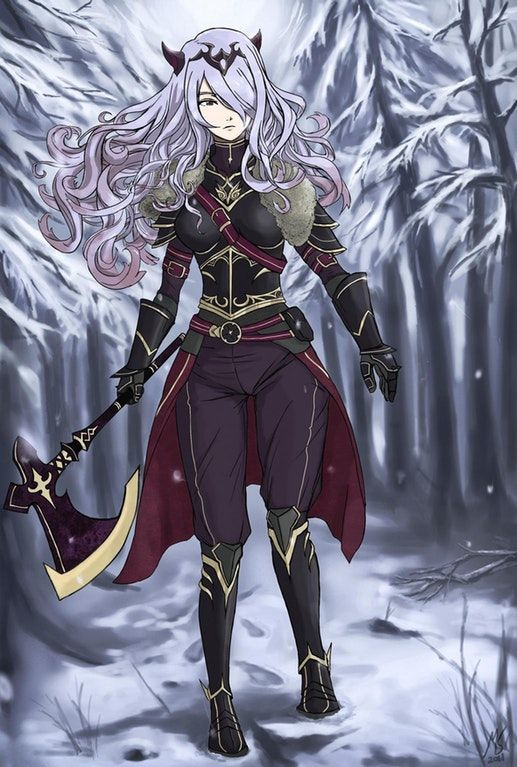 Vengeance Camilla as a tribute for the last CYL commissioned for Foxvgs : FireEmblemHeroes / Nan this is some really good Camilla art!