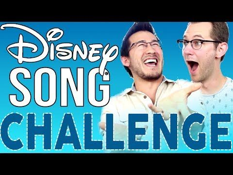 DISNEY SONG CHALLENGE | ft. Markiplier ! I laughed so hard watching them xD