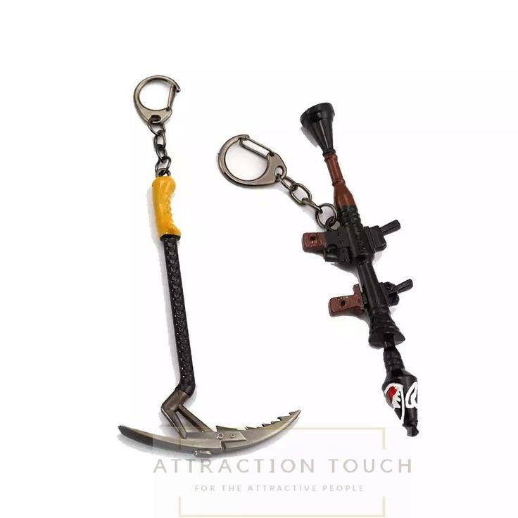 Fortnite Keychain 12cm Metal Arms Shark Cannon Rocket