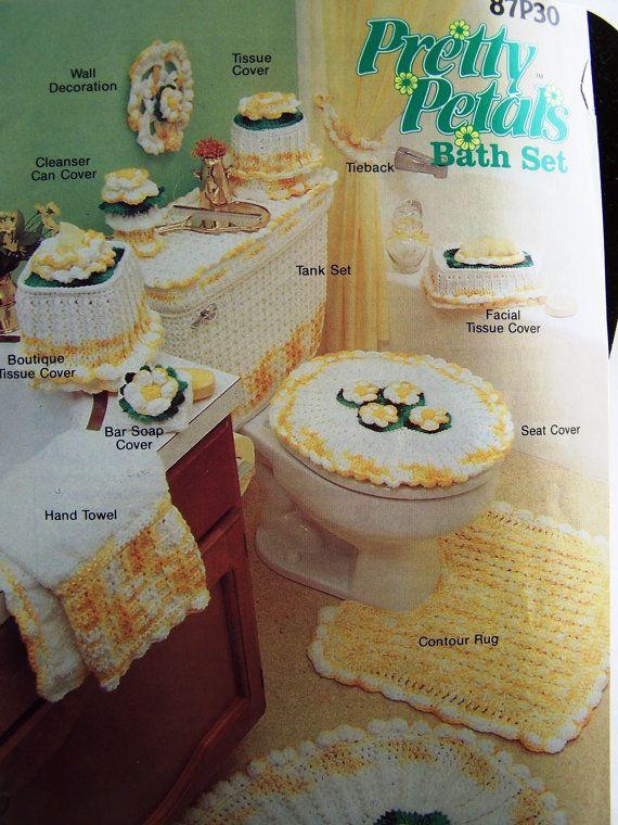 Pretty Petals Bath Set Crochet Patterns By Annie S Attic