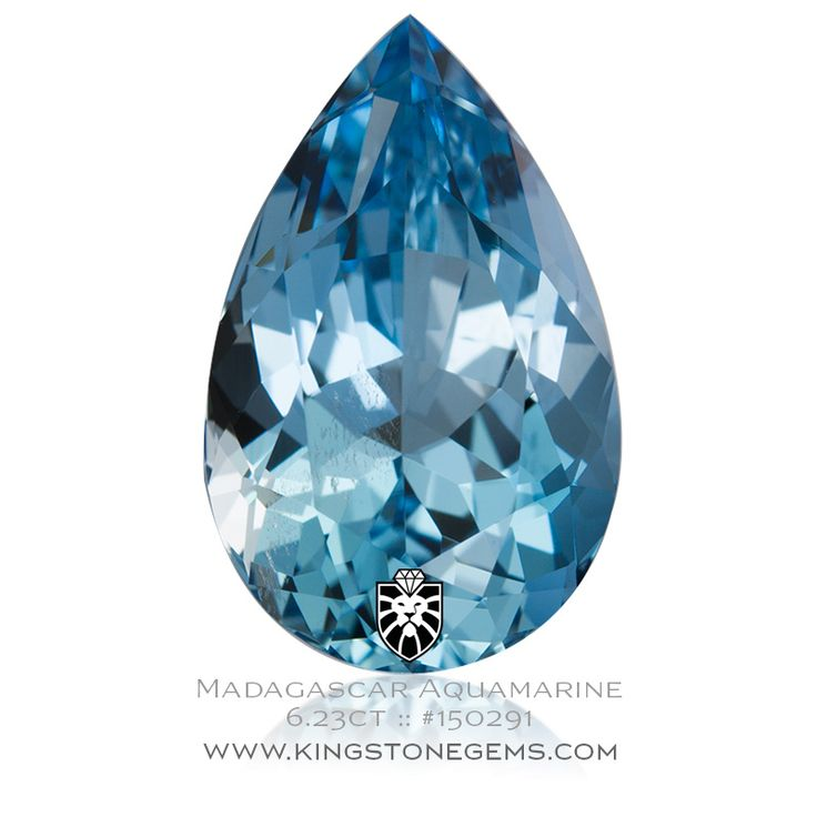 Natural Madagascar Blue Aquamarine Pear - 6.23ct - 16x10x7.7mm - SKU# 150291 - Vivid and exceptionally fine natural loose Madagascan blue aquamarine pear gemstone.