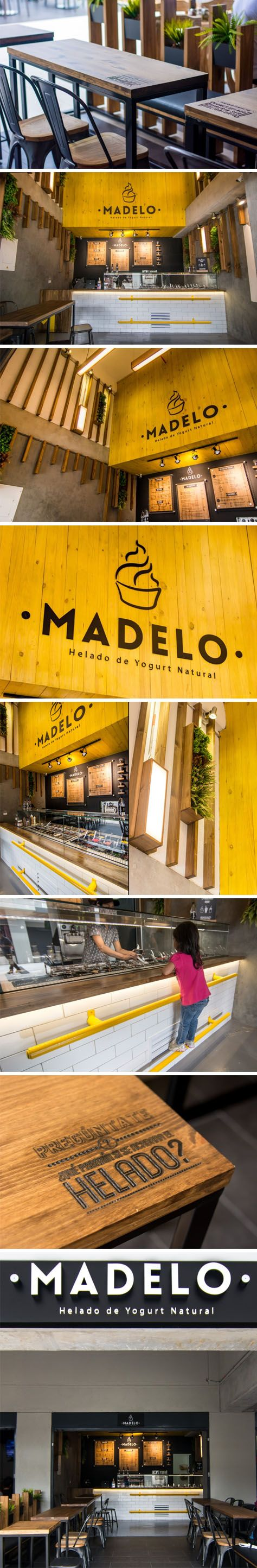 Madelo frozen yogurt shop by Blaster, Medellín – Colombia.