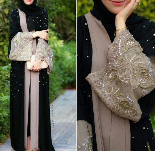 Pearl Lace Abaya by Hanna Anna
