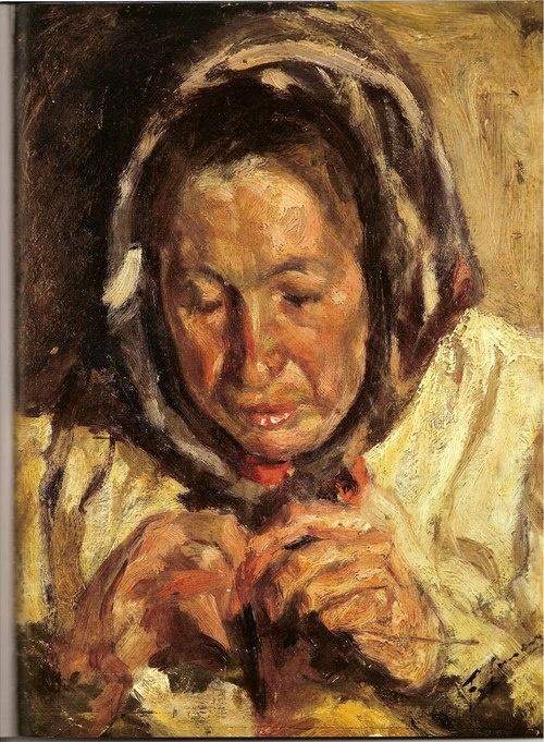 Dona cosint. Francesc Gimeno (1858-1927