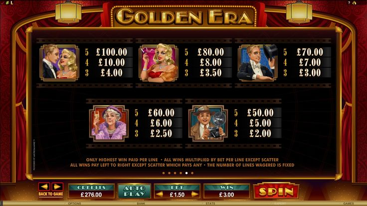 Golden Era Online Slot Game | Euro Palace Casino