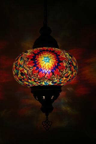 Flamboyant Turkish Mosaic Pendant